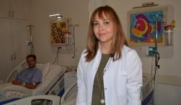 Rus tatilci ilçe dışına sevkedilmeden ameliyatı yapıldı