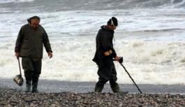 Alanya sahilinde para avı