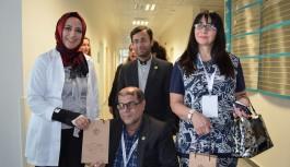 Turizm konsey heyeti ALKÜ hastanesinde