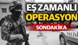 Antalya merkezli Alanya'da eş zamanlı operasyon
