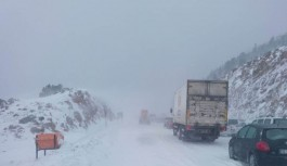 Alacabel de yoğun kar yağışı başladı
