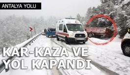 Alacabel yolu kardan kapandı