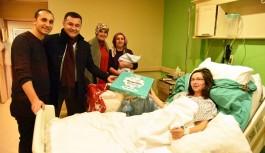 Alanya da yeni yılda ilk doğan bebeklere ilk ziyaret.