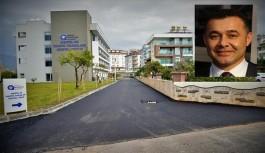 Alanya'daki sosyal tesisin çevresindeki caddeler asfaltlanıyor