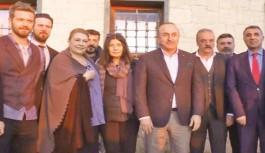 """Çavuşoğlu, """"Yüzleşme"""" setini ziyaret etti"""
