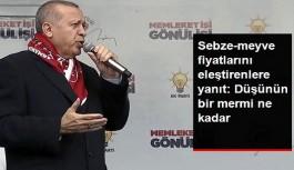 Erdoğan'dan Sebze-Meyve Fiyatlarını Eleştirenlere Yanıt: Düşünün Bir Mermi Ne Kadar?