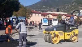 Otogar yollarına asfalt