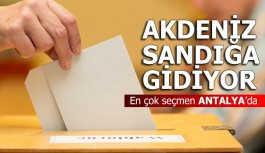 Akdeniz sandığa gidiyor... En çok seçmen Antalya'da