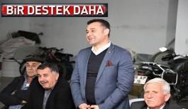 Geçen dönem rakibi olan Yücel'e, Şefik Türktaş desteği...!