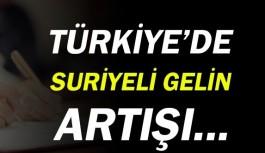 Türkiye'de Suriyeli gelin artışı.