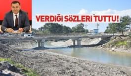 Yücel'in sayesinde vatandaşlar O köprüden rahat geçecekler
