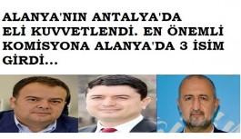 Alanya'dan Antalya'ya 3 yeni üye