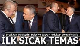 Antalya Büyükşehir belediye başkanı Böcek, Çavuşoğlu nu karşıladı...