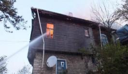 Köy evinde yangın!