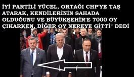 Yücel Apaydın: Büyükşehir'de 7 bin oy alındı. Diğer oy nerede dedi ve ortağı CHP'ye taş attı!