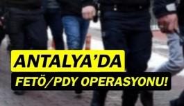 Antalya'da FETÖ/PDY operasyonu! 4 kişi yakalandı!