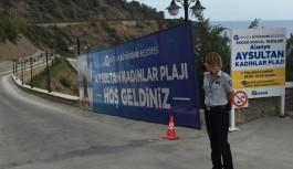 Aysultan kadınlar plajı kapatıldı!