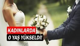 Kadınlarda evlenme yaşı yükseldi!