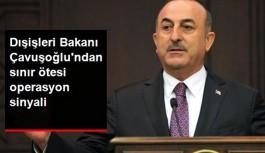 Çavuşoğlu'dan sınır ötesi operasyon sinyali: O teröristler temizlenecek