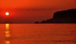 Alanya'da muhteşem gün batımı