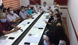 CHP yönetimi maskeli toplantı yaptı