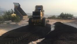 Cikcilli Mezarlığı'nda asfalt çalışması