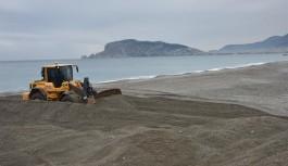 Dimçayı'nın sahil ağzında temizlik çalışması!