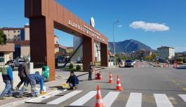 Otogar'da peron çizgileri yenilendi