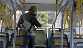 Alanya'da toplu ulaşımaraçlarına korona önlemi