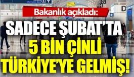 """Kültür ve Turizm Bakanlığı: """"Şubat ayında 5 bin Çinli Türkiye'ye geldi"""""""