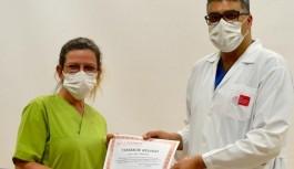 Alanya'da koronavirüs mücadelesine teşekkür belgesi