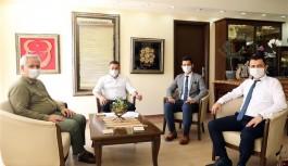 Bayram öncesi kurum müdürleriyle toplantı yaptı
