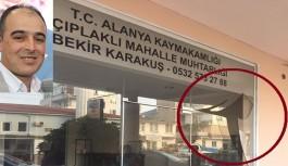 Mahalle muhtarlığı ofisine saldırı!