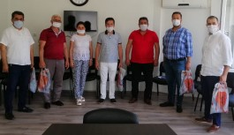 THK Alanya'dan muhtarlara maske!