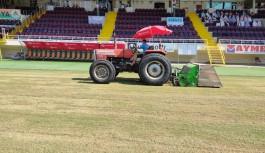Alanya belediyesi stadyumu bakıma aldı