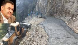 Alanya belediyesi görme engelli vatandaşın yoluna beton döktü!