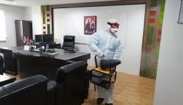 Alanya belediyesi kamu binaları dezenfekte ediyor