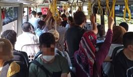 Alanya'da halk otobüsünde endişelendiren görüntü