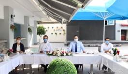Müftüoğlu'nun daveti üzerine buluştular!