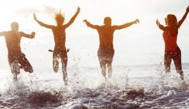 Alanya'da deniz suyu havadan sıcak!