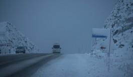 Alacabelde kar etkili oldu