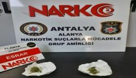 Alanya'da uyuşturucuya gözaltı!