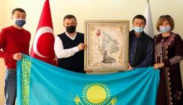 Başkan Yücel, Kazakistan heyetini ağırladı