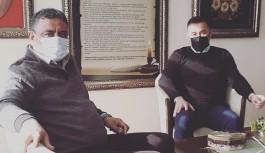 Gazeteci Kalaycı, Başkan Yücel ile görüştü