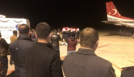 Şehit polisin cenazesi Gazipaşa-Alanya Havalimanı'na getirildi