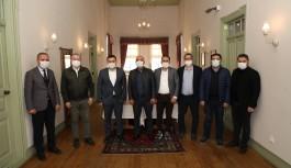 Alanyaspor'dan Başkan Yücel'e ziyaret