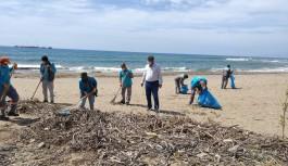 Kaplumbağalarının yuvalamaları için Demirtaş sahilleri temizlendi!