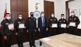 Kaymakam Ürkmezer'den bekçilere başarı belgesi