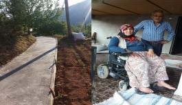 Alanya belediyesi engelli vatandaş için rampa yaptı!