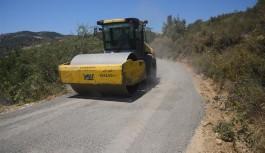 Alanya belediyesinden sıkıştırılmış beton yol uygulaması
